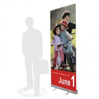 Стенд Roll-Up / RS-10 (85x200) (экономэконом)  - Бумеранг-Экспо